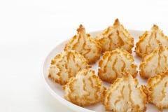 椰子蛋白杏仁饼干 免版税图库摄影