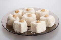 椰子蛋糕 库存照片