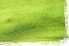 椰子边缘绿色grunge查出的纸张 免版税图库摄影