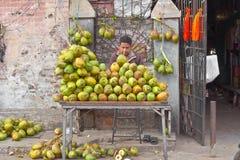 椰子销售  免版税库存图片