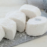 椰子面包屑的拉哈特lokum 免版税库存图片