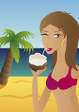椰子饮料海岛 免版税图库摄影