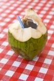 椰子饮料表 库存图片