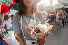 椰子饯奶油 免版税库存照片