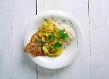 椰子鱼咖喱 库存图片