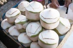 椰子水街道食物 图库摄影