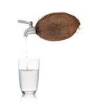 椰子水 免版税图库摄影
