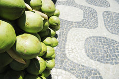 椰子Ipanema边路里约热内卢巴西 免版税库存图片