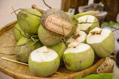 椰树泰国的坚果文化 免版税库存图片