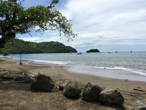 椰树海滩, Guanacaste哥斯达黎加 免版税库存照片