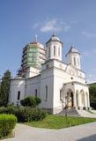 椰树的修道院,多布罗加,罗马尼亚教会 免版税库存图片