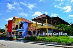 椰树Nakorn Lampang是纪念品店 库存图片