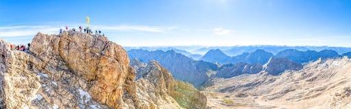 楚格峰,德国的上面 库存图片