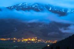 楚格峰,阿尔卑斯。 免版税库存图片
