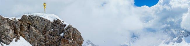 楚格峰,高山在德国 免版税库存图片