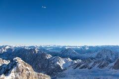 楚格峰-德国的上面 库存照片