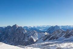 楚格峰-德国的上面 免版税图库摄影