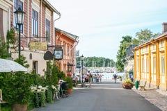 楠塔利村庄在芬兰 库存照片