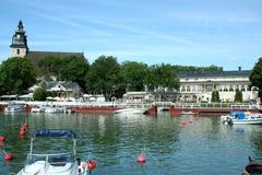 楠塔利港在芬兰 免版税库存图片