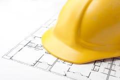 楼层安全帽计划 免版税库存照片