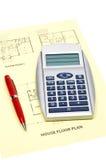 楼层房子计划 免版税库存图片