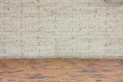 楼层橙色墙壁白色 免版税库存图片