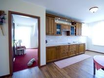 楼层硬木厨房 免版税库存图片