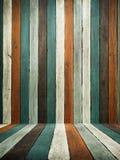 楼层绿色老口气墙壁木头 库存照片
