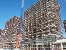 楼房建筑房子新的站点 免版税库存照片