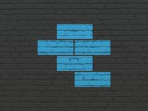楼房建筑概念:在墙壁背景的砖 免版税库存图片