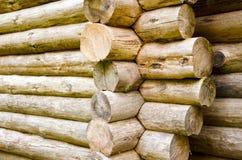 楼房建筑记录木 免版税库存照片