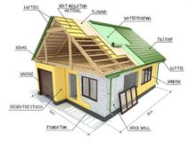 楼房建筑寓所站点廉价公寓 库存例证