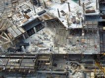 楼房建筑工作场所 免版税库存图片