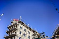 楼房建筑房子新的站点 图库摄影