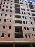 楼房建筑起重机站点 免版税库存照片