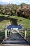 楼梯向湖 库存图片