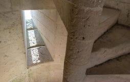 楼梯和光反射 免版税库存图片