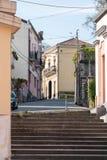 楼梯和小路 免版税图库摄影