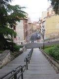 楼梯和街道 免版税库存图片