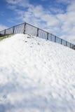 楼梯在公园冬天 库存图片
