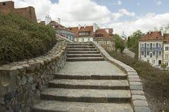 楼梯在华沙,波兰 免版税库存图片