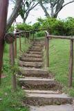 楼梯在庭院里 免版税图库摄影