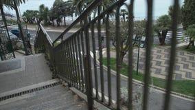 楼梯在有美好的风景的镇 影视素材