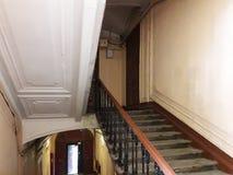 楼梯在欧洲城市圣彼得堡,俄罗斯的中心 免版税库存图片