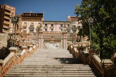 楼梯在特鲁埃尔省 库存照片