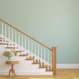 楼梯在现代房子里。 图库摄影