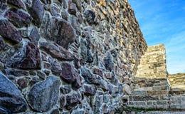 楼梯在Fredriksten堡垒。 免版税库存图片