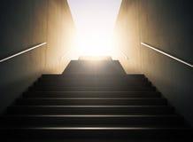 楼梯成功 库存图片