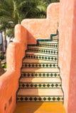 楼梯摩洛哥样式 库存照片