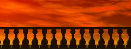 楼梯栏杆地狱 免版税库存图片